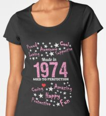 Made In 1974 - Aged To Perfection Women's Premium T-Shirt