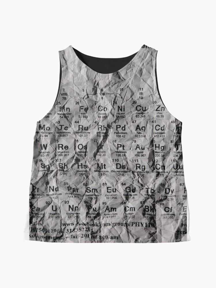 Alternate view of Таблица Менделеева, Периодическая таблица, Periodic Table of the Elements, #PeriodicTableoftheElements #PeriodicTable #Elements #Periodic #Table #Element #Chemistry #Helium #Периодическаятаблица Sleeveless Top