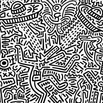 Rhythm (Keith Haring)  by RetroPops