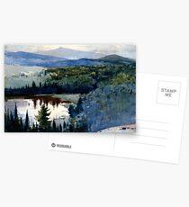 Homer - Indian Village, Adirondacks - fine art painting Postcards