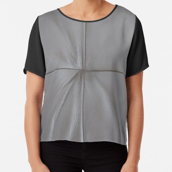 Leather Upholstery Chiffon Top