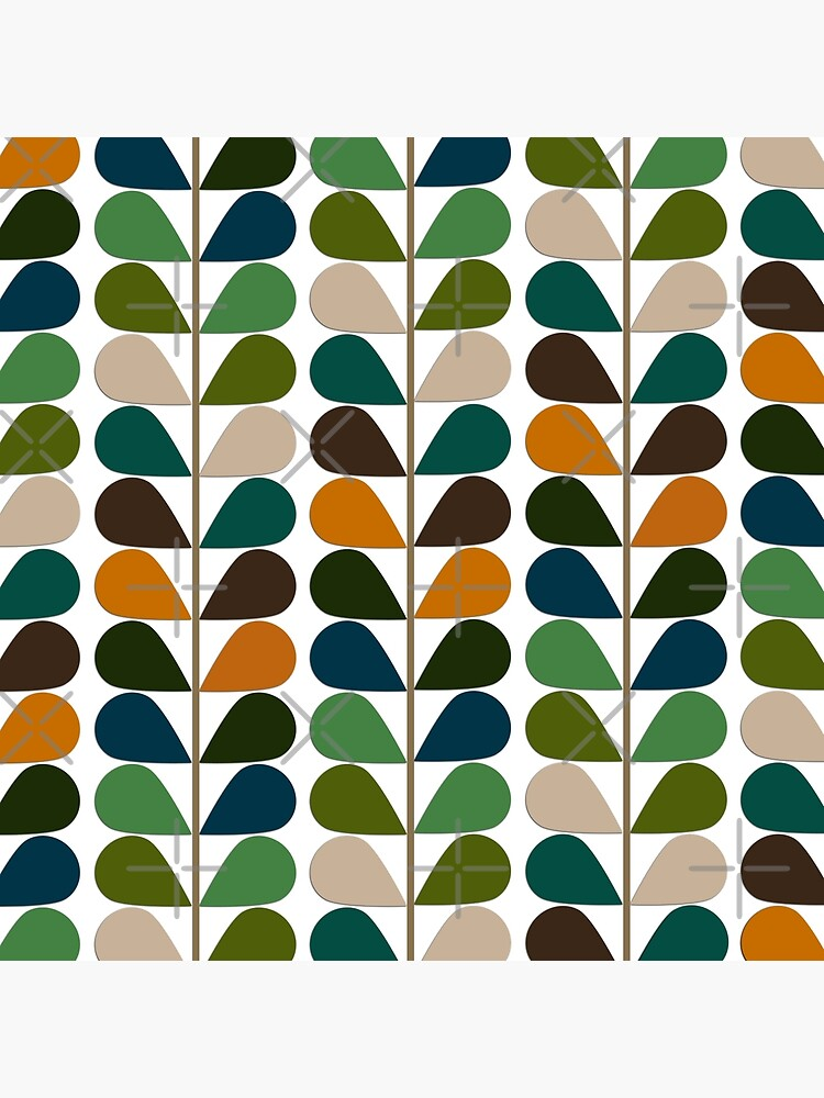 Retro 60s Mid Century Modern Pattern 2 by Makanahele