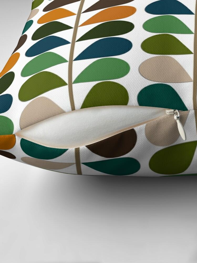 Alternate view of Retro 60s Mid Century Modern Pattern 2 Throw Pillow