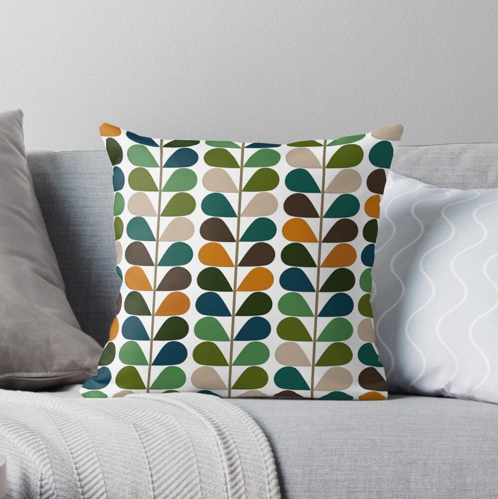 Retro 60s Mid Century Modern Pattern 2 Throw Pillow