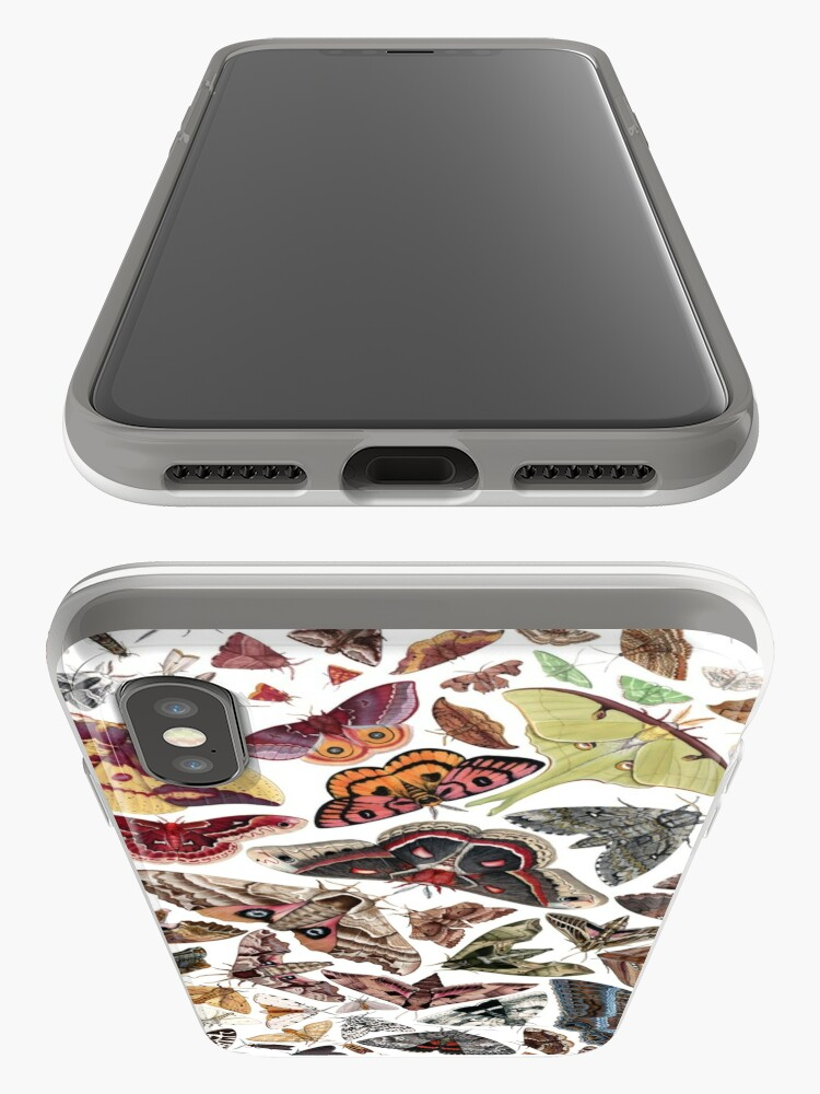 Alternate view of Moths of North America Pattern iPhone Case & Cover