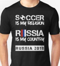 Sbornaya National Soccer Team 2018 Championship Soccer Is My Religion Unisex T-Shirt