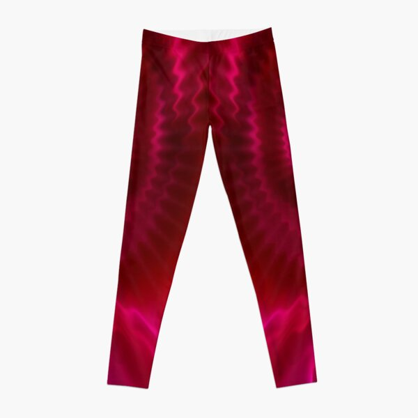 Red Power Wave Leggings