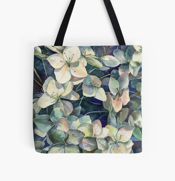 Summer hydrangea All Over Print Tote Bag