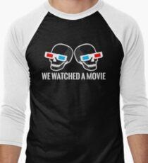 Two Skulls One Shirt! Men's Baseball ¾ T-Shirt