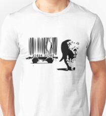Banksy Print Tiger Barcode T-Shirt