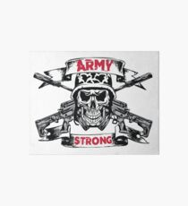 Army Strong Skull and Cross Rifles Pirate Art Board
