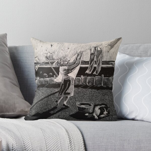 Rescuing The Sheets Throw Pillow
