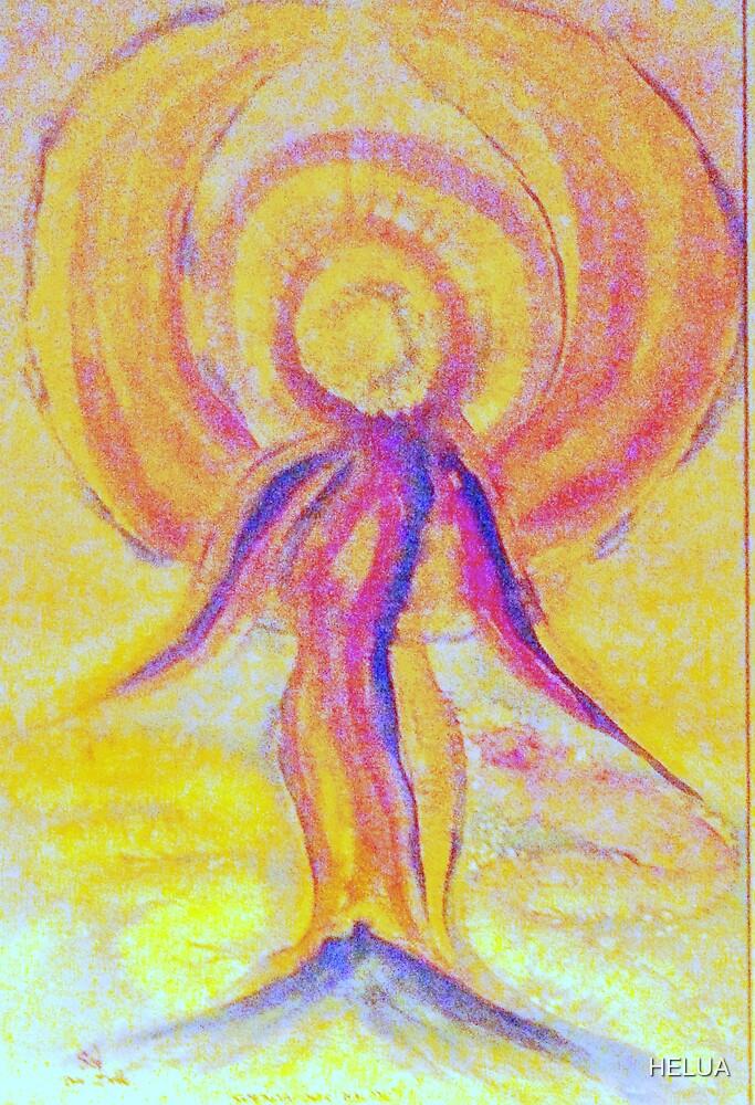 The Sun and Creator Goddess by HELUA