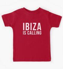 Ibiza Is Calling 2 Music Quote Kids Tee