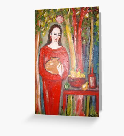 """"""" The wine """" Greeting Card"""