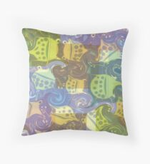 Froggy Swirl Floor Pillow