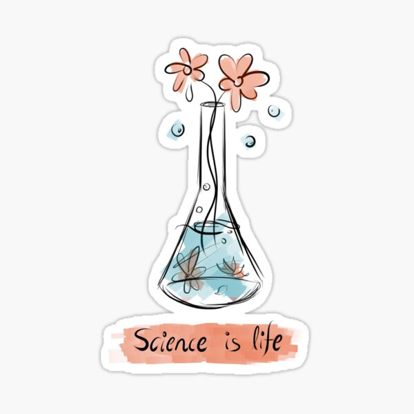 La ciencia es vida Pegatina