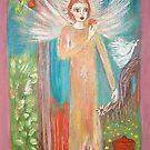 """Angel with an orange"" by catherine walker"