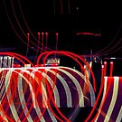 Ribbons of Light on the I5 - Long Exposure by Buckwhite