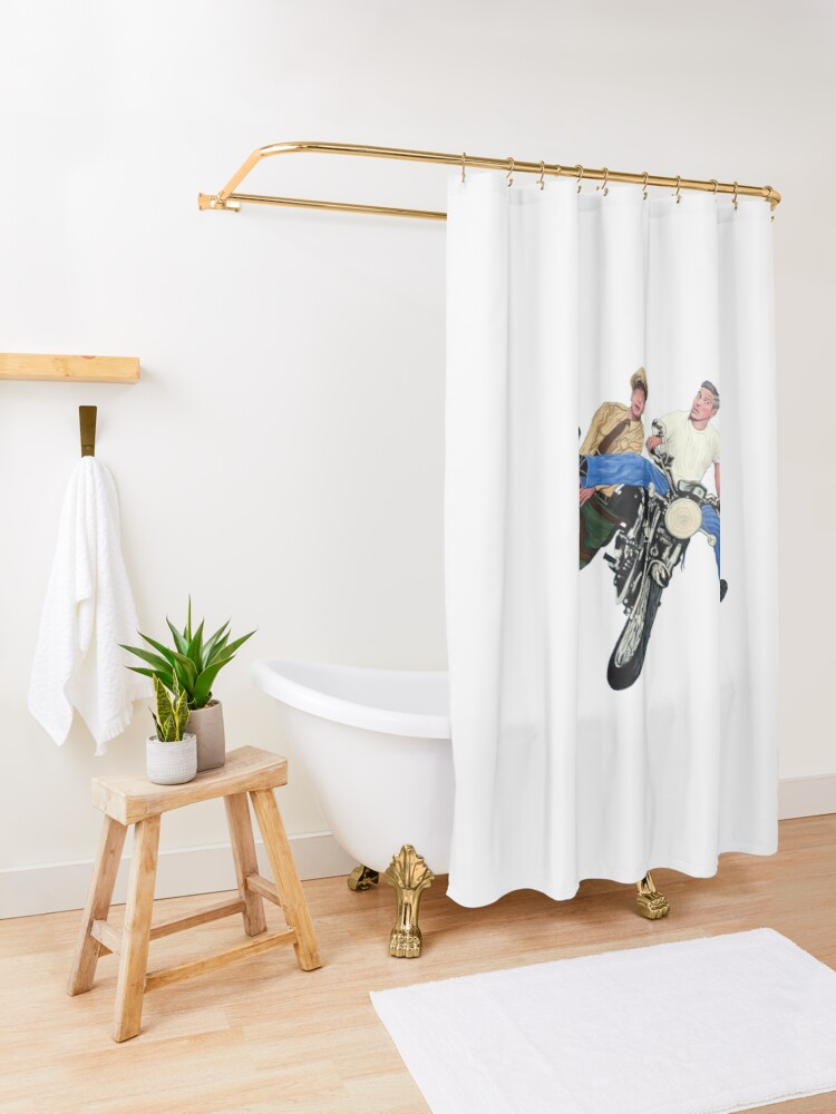 Alternate view of Don't Blink Shower Curtain