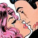 Comic-Paar küssen von kawazi123