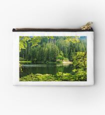 lake in pine forest Studio Pouch