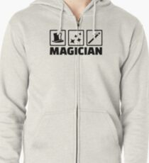 Magician equipment Zipped Hoodie