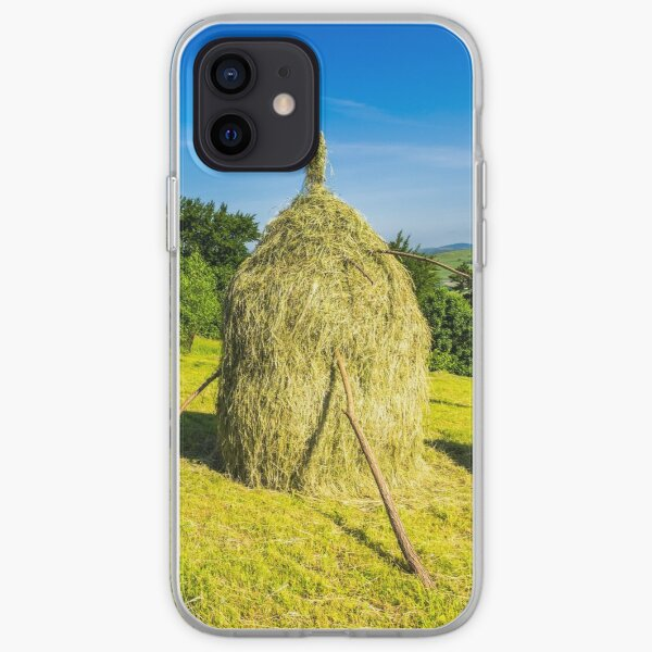 field with haystacks iPhone Soft Case