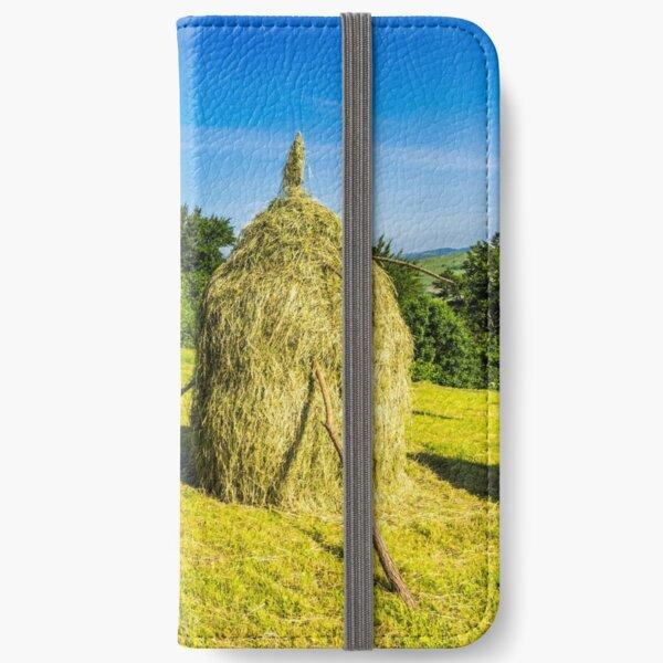 field with haystacks iPhone Wallet