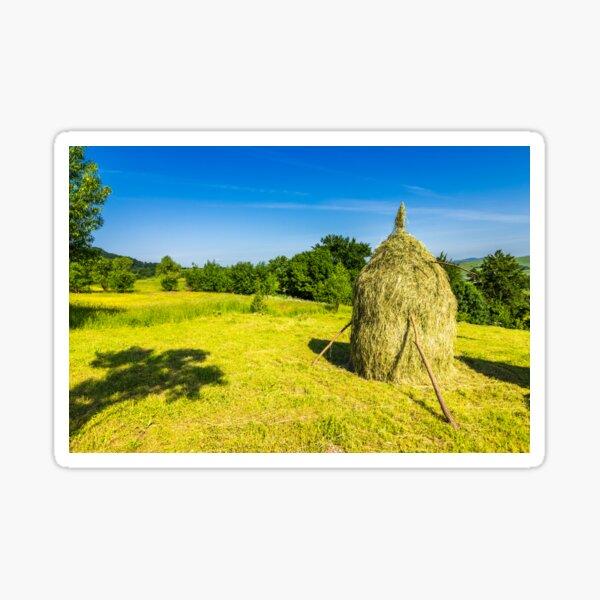 field with haystacks Sticker