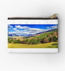 coniferous forest in autumn  mountains  Studio Pouch