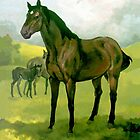 Sound Reason Thoroughbred Stallion by Patricia Howitt