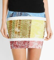 Apartment Sunset (Distressed) Mini Skirt