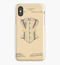 1878 Patent Corset iPhone Case