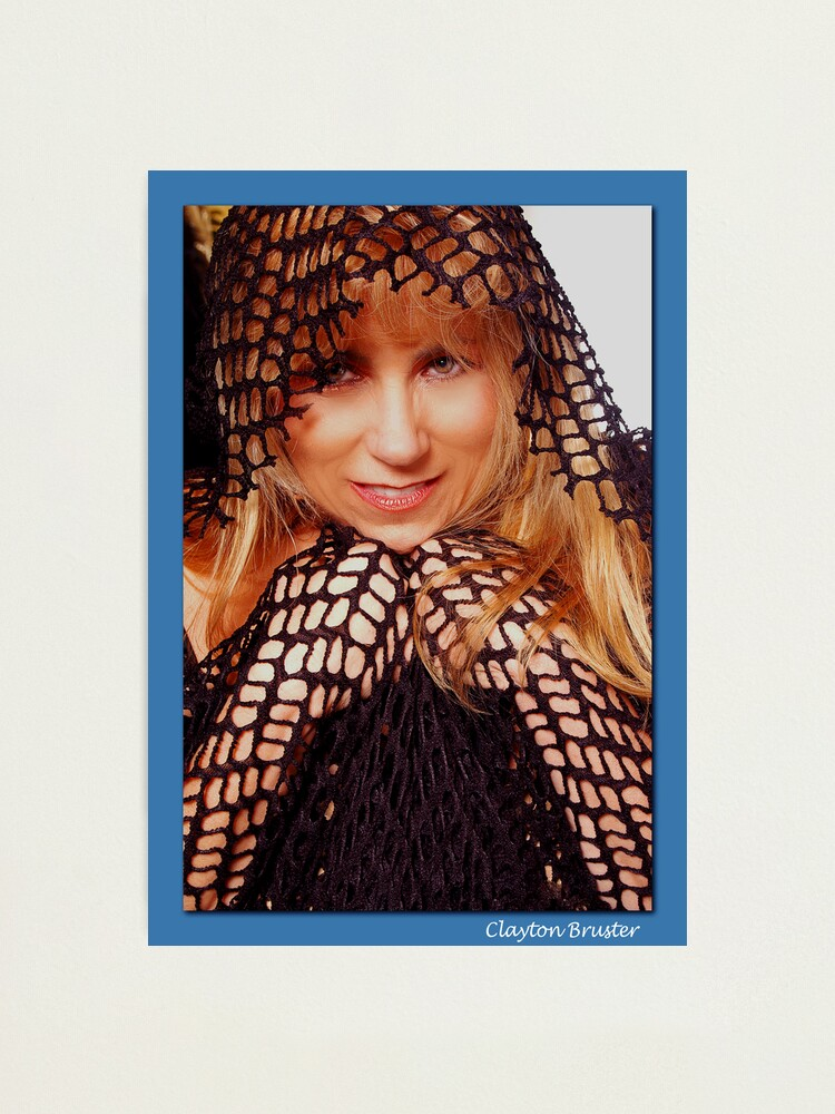 Alternate view of Beatuful Blond in Mesh Cape with Hood Photographic Print