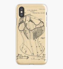 1877 Patent Corset iPhone Case