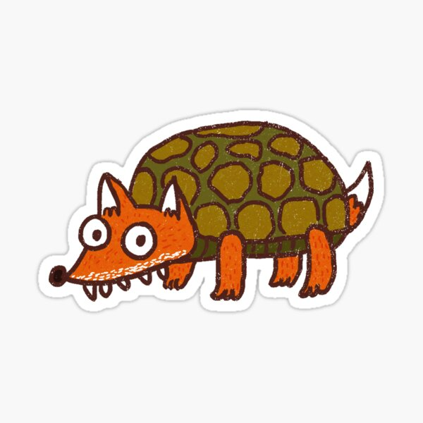 Turtle Fox Sticker