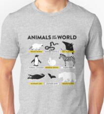 Camiseta unisex Animales del mundo