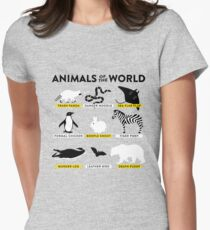 Animals of the world Women's Fitted T-Shirt