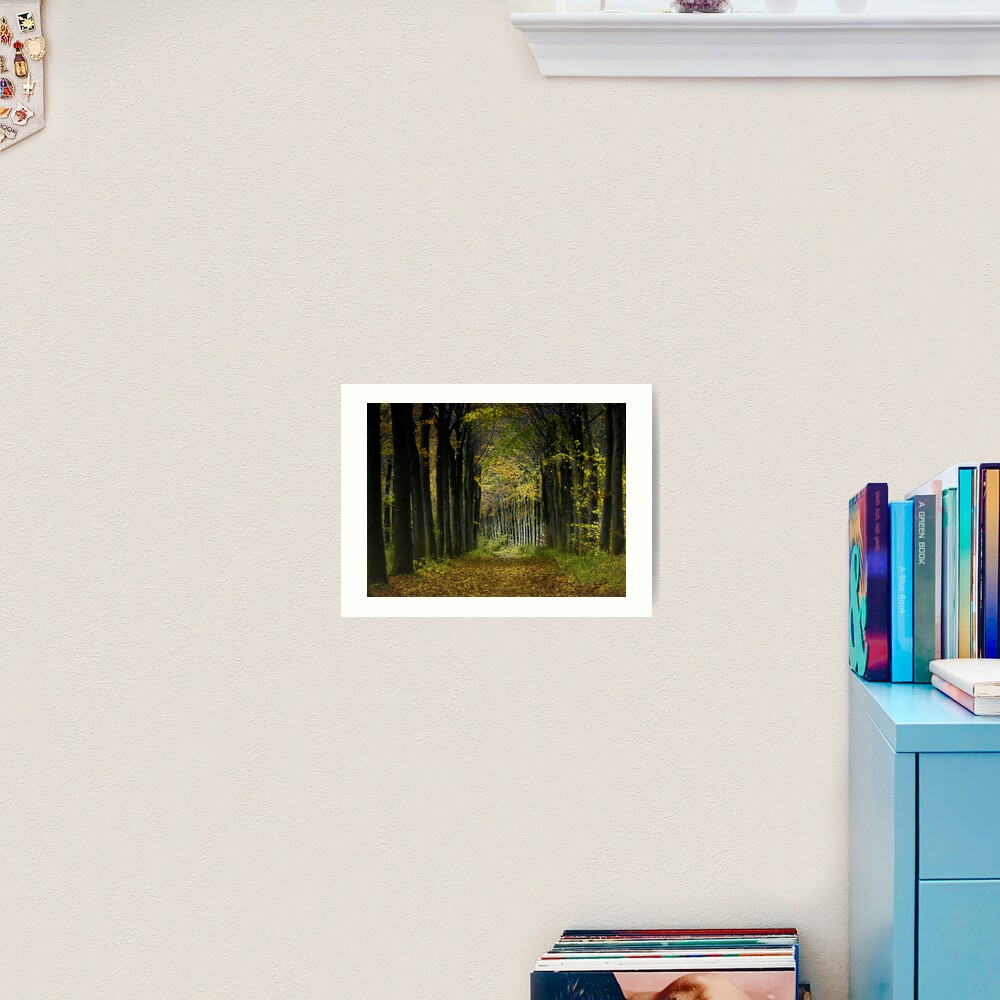 Lane; trees Art Print