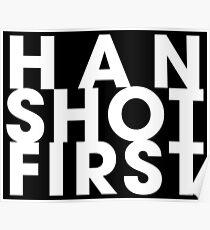HAN SHOT FIRST Poster