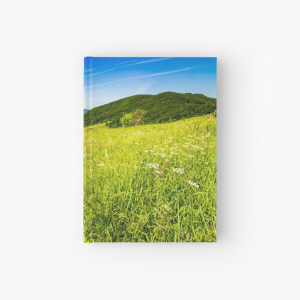 village on hillside meadow Hardcover Journal