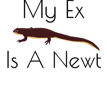 My Ex Is a Newt T-Shirt Funny Wiccan Relationship Magick Tee by JoeRossi
