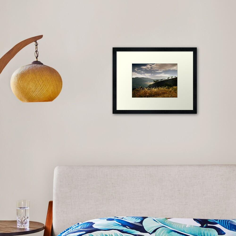 Dark mountains Framed Art Print