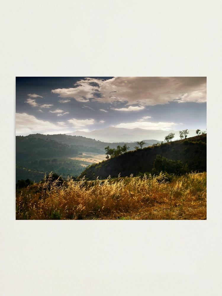 Alternate view of Dark mountains Photographic Print