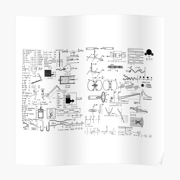 Physics Prints,  General Physics PHY 110 - Formula Set Poster