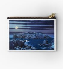 composite island with hills and castle at night Studio Pouch