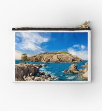 composite island with hills and castle Studio Pouch