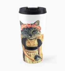 Dutch Kitty With Bird Travel Mug