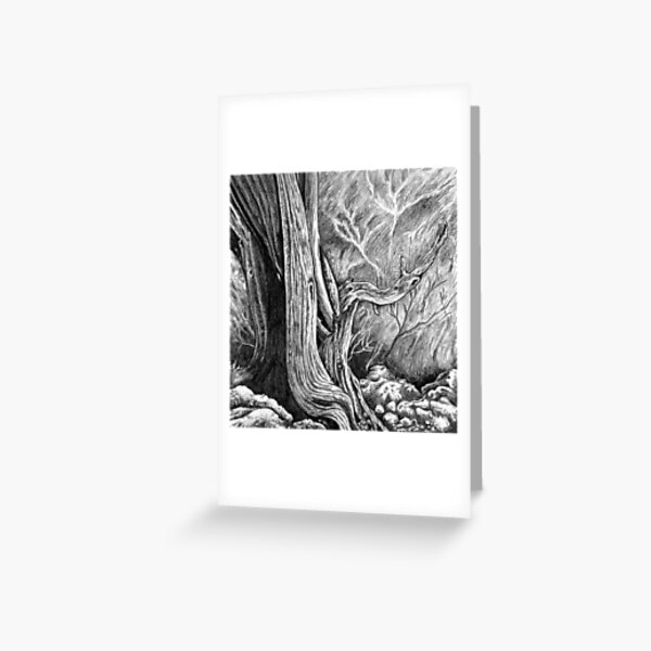 Skull Forest Greeting Card